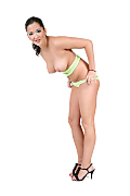 Nina Angel Lime juice istripper model
