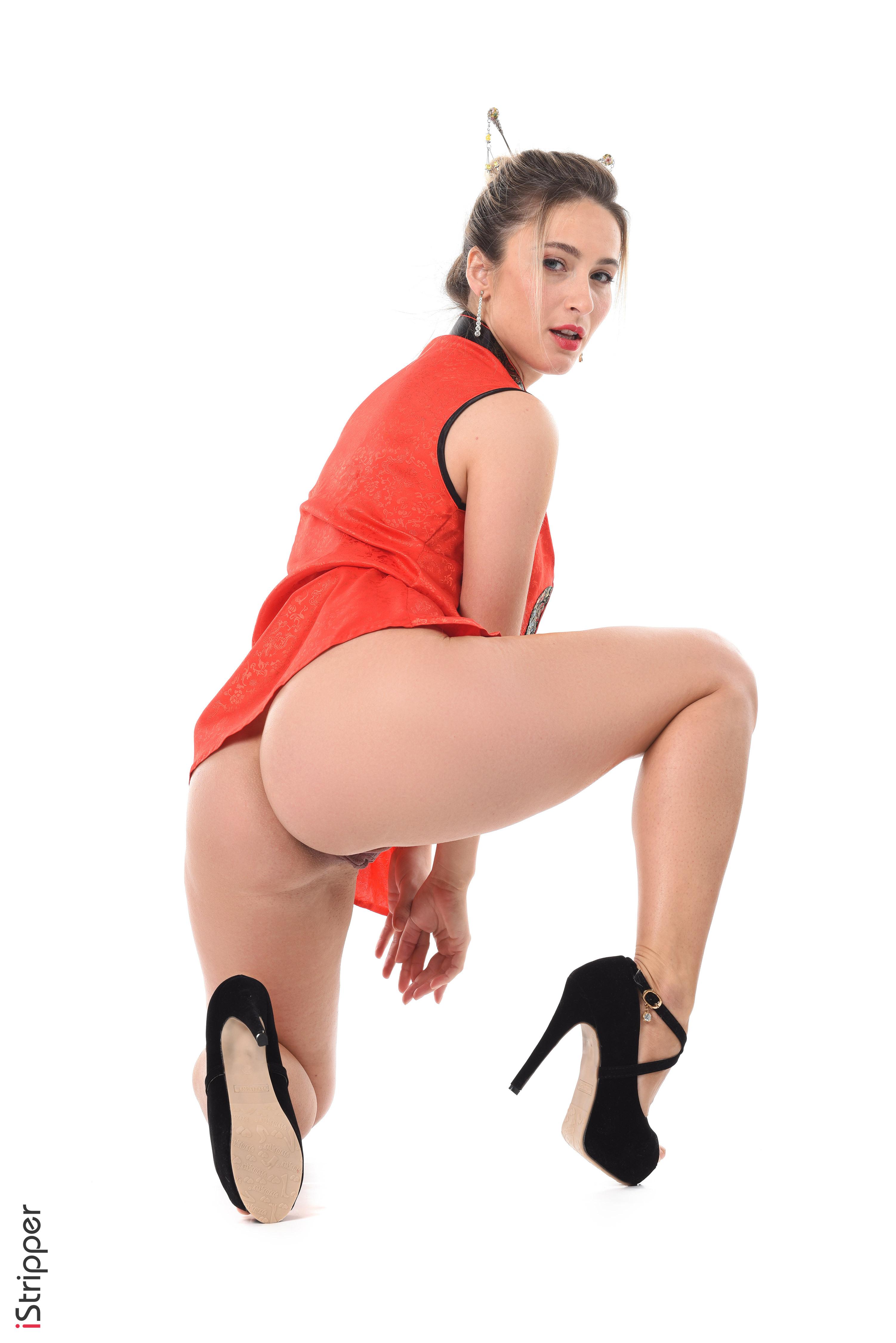 sexy secretaries striptease for boss