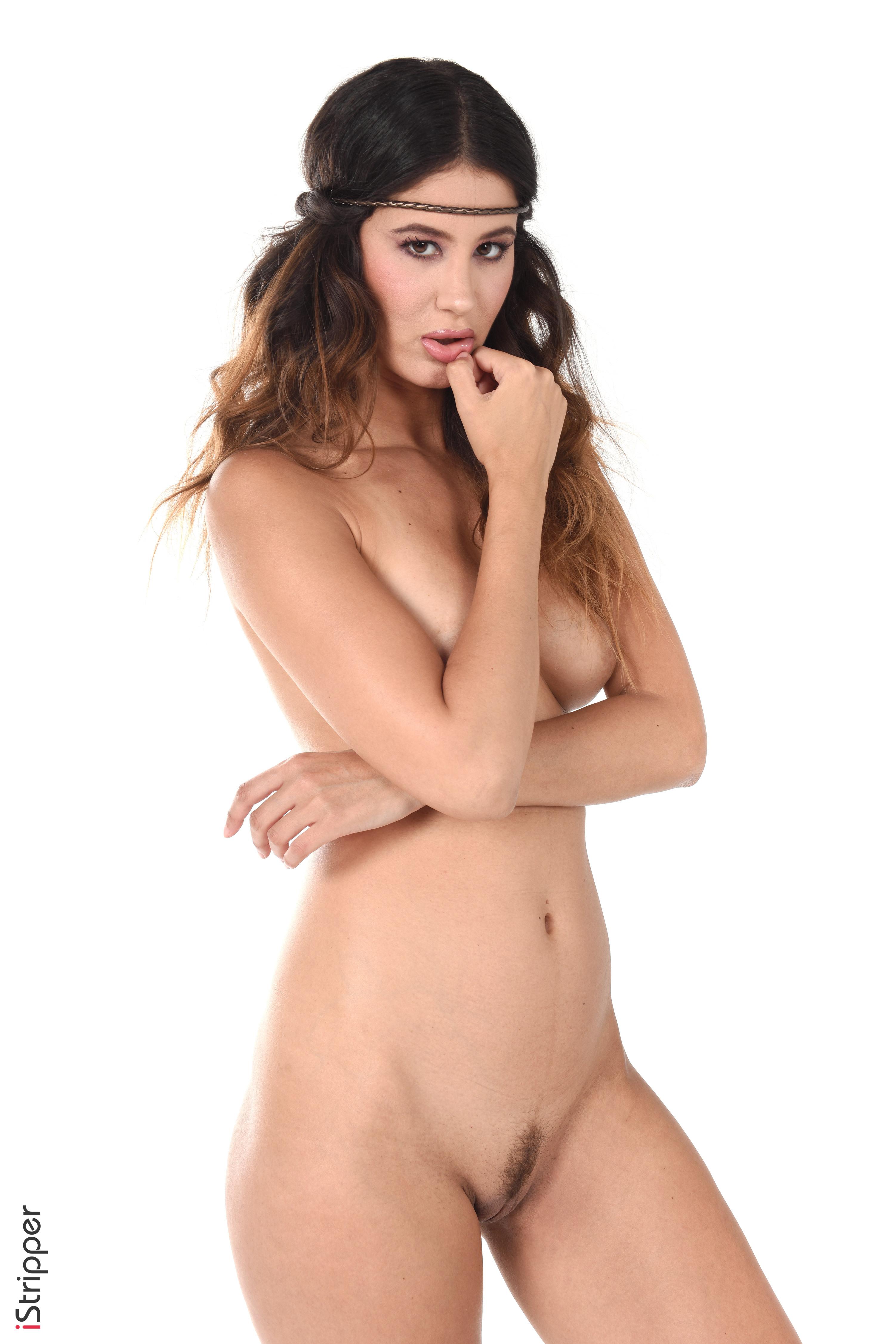 sexy busty ebony striptease