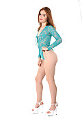 Jia Lissa Turquoise Hot Babe istripper model