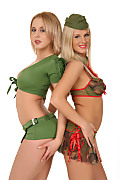 Barbie White & Mandy Dee Recruit training istripper model