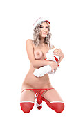 Eva Elfie Sweet Santa's Daughter istripper model